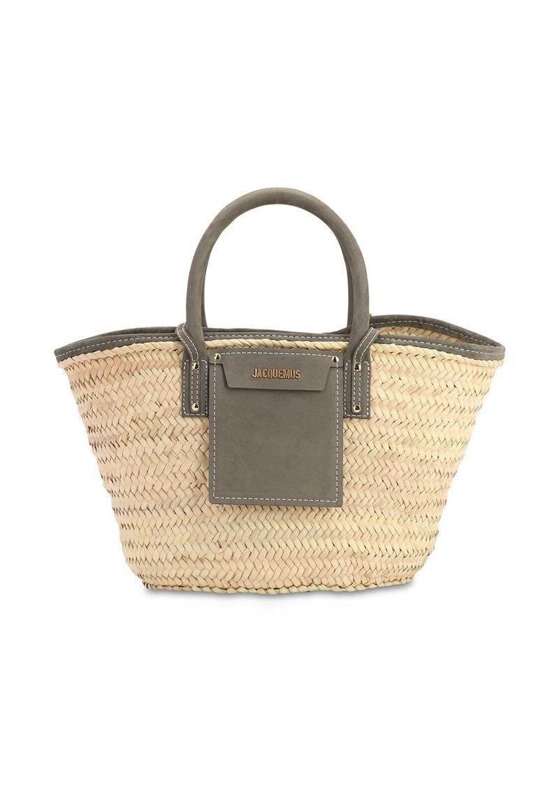 Jacquemus Le Panier Soleil Straw & Leather Bag