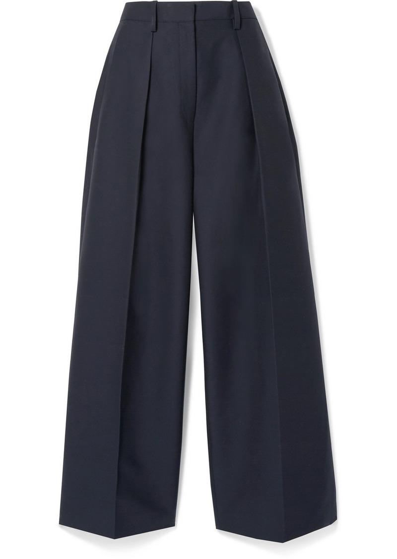 Jacquemus Le Pantalon Carini Pleated Cotton-blend Wide-leg Pants