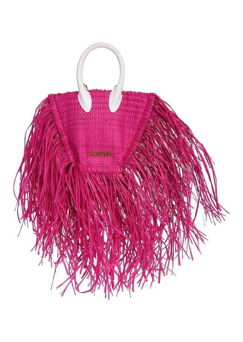 Jacquemus Le Petit Baci Straw Bag