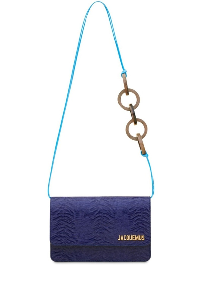 Jacquemus Le Riviera Lizard Embossed Leather Bag