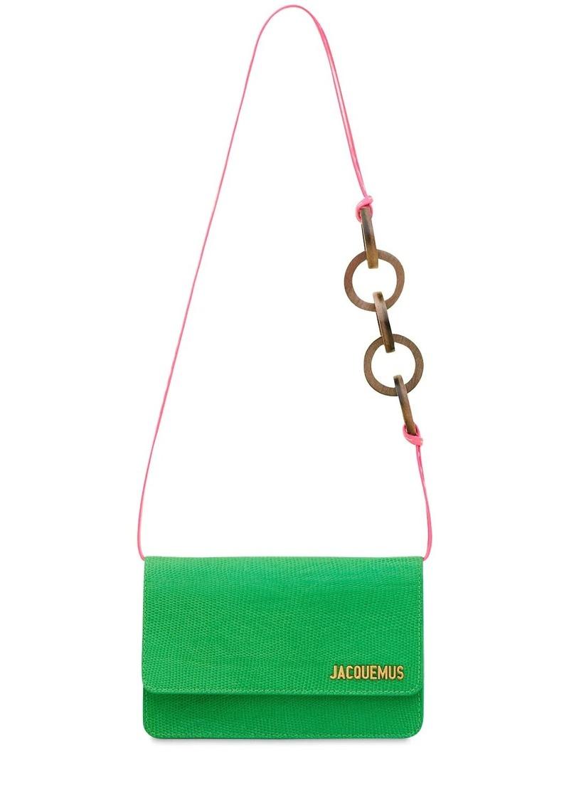 Jacquemus Le Sac Riviera Embossed Leather Bag