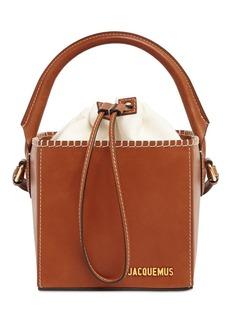 Jacquemus Le Seau Carre Square Leather Bucket Bag