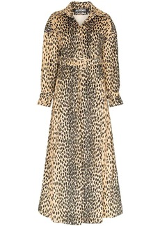Jacquemus leopard-print belted trench coat