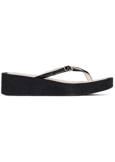 Jacquemus Les Tatanes Lin flatform sandals