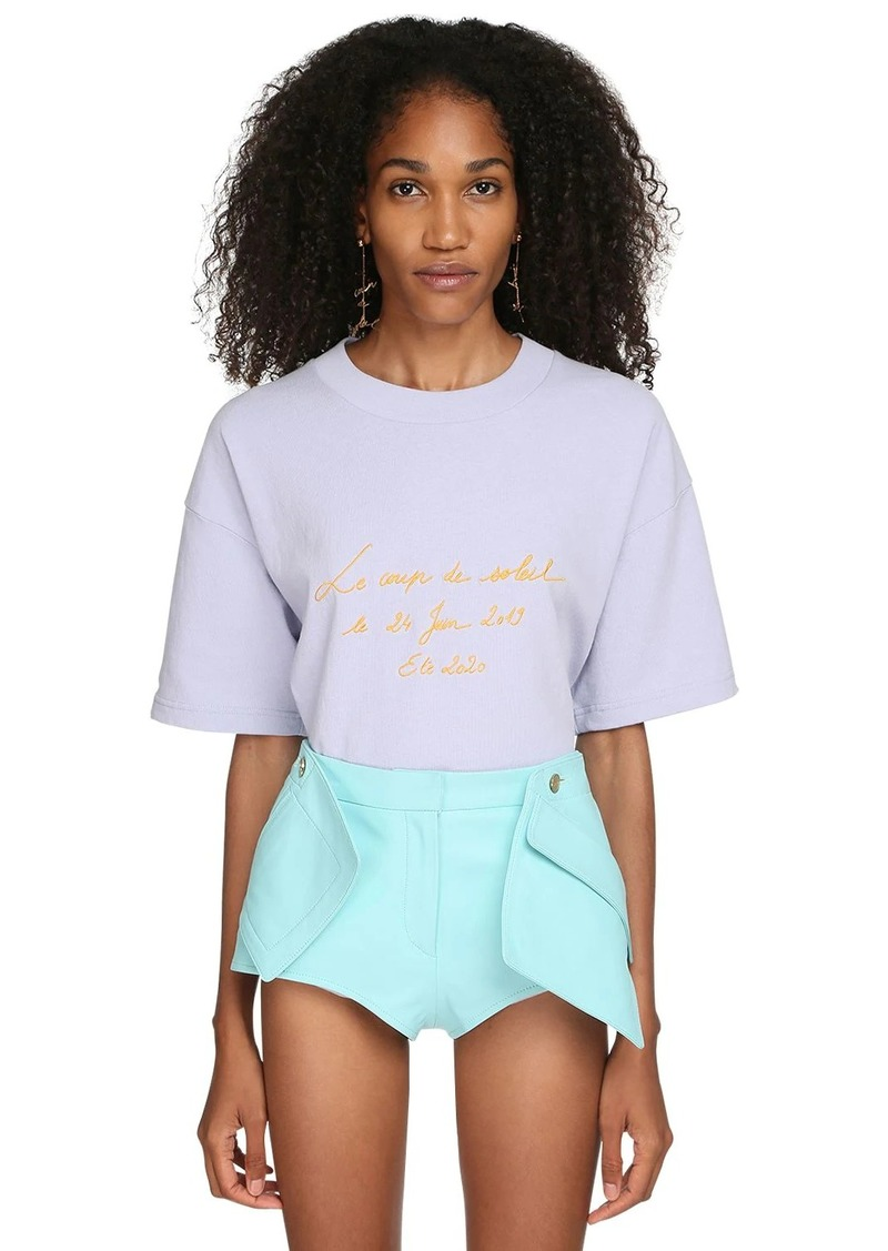 Jacquemus Logo Embroidered Cotton Jersey T-shirt