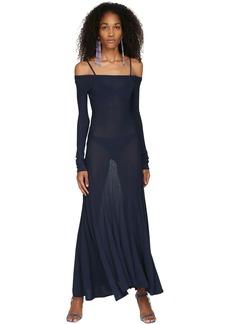 Jacquemus Off-the-shoulder Knit Midi Dress W/ Bra