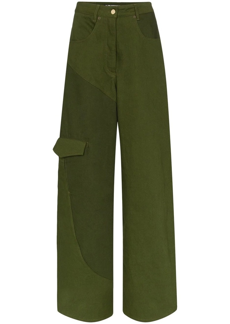 Jacquemus panelled high waist jeans