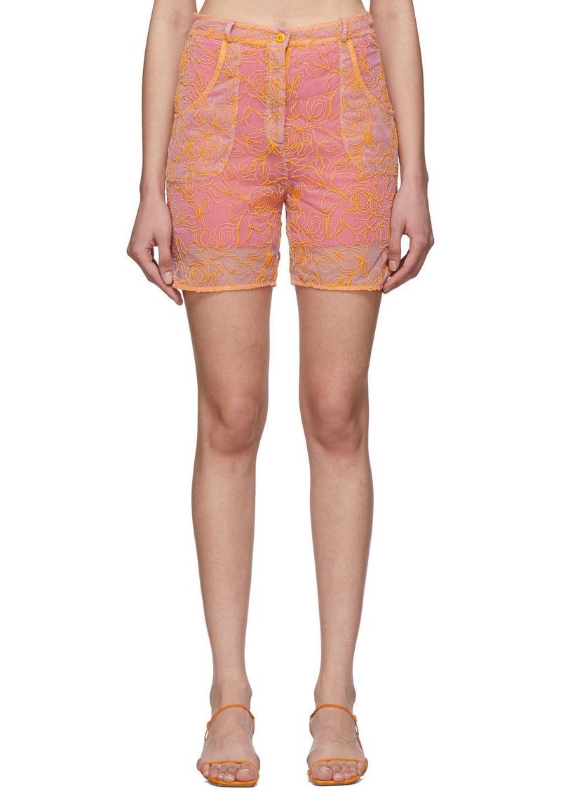 Jacquemus Pink & Orange 'Le Short Lavandou' Shorts