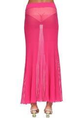 Jacquemus Plisse Sheer Knit Midi Skirt