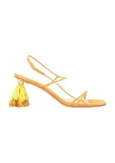 Jacquemus Raffia sandals with heels