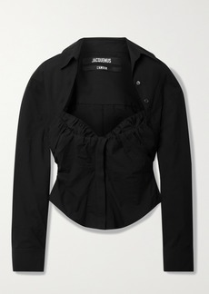 Jacquemus Ruched Cotton-blend Poplin Shirt