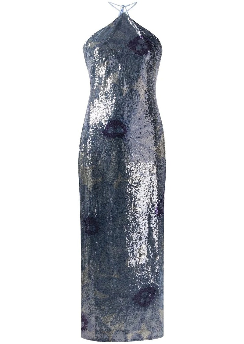 Jacquemus sequinned floral dress
