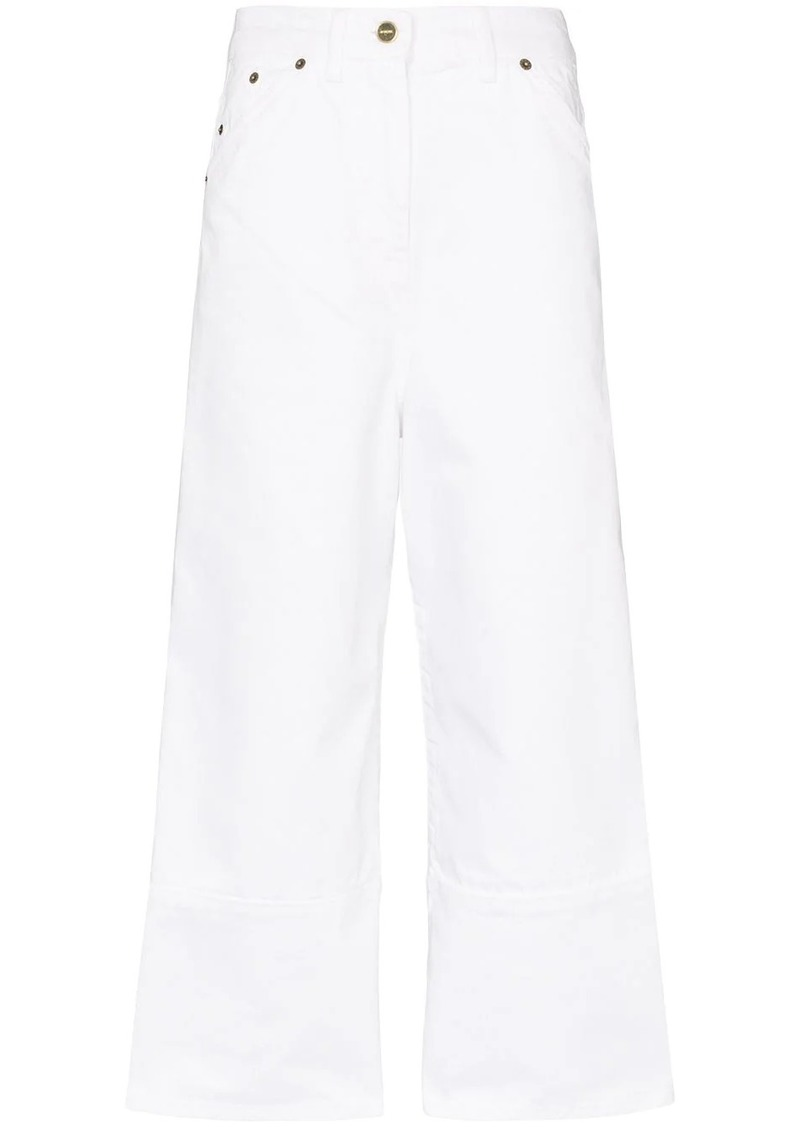 Jacquemus straight leg cropped jeans