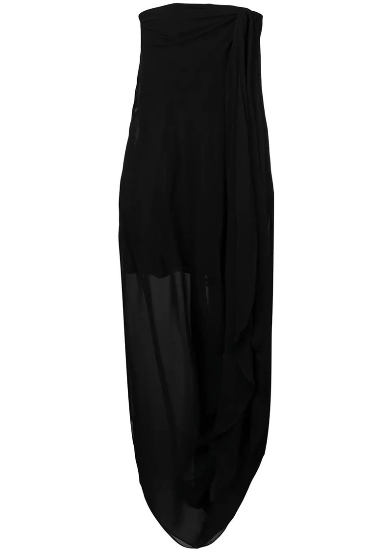 Jacquemus strapless asymmetric dress