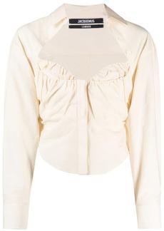 Jacquemus sweetheart-neck long-sleeve shirt