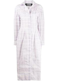 Jacquemus Valensole checked shirt dress