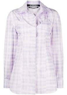 Jacquemus Valensole cut-out checked shirt