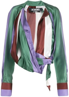 Jacquemus Waist-tied draped blouse