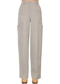 Jacquemus Wide Leg Viscose & Silk Canvas Pants