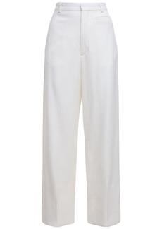 Jacquemus Wool & Viscose Wide Leg Crop Pants