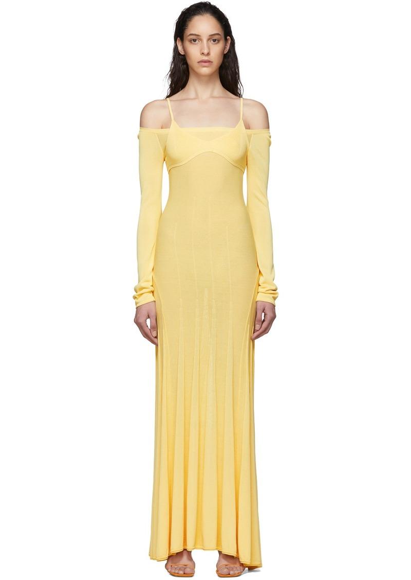 Jacquemus Yellow 'La Robe Maille Valensole' Dress