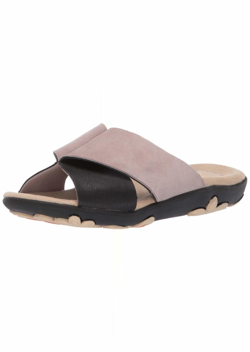 Jambu Women's Bloom Slide Sandal Black/tan  M US