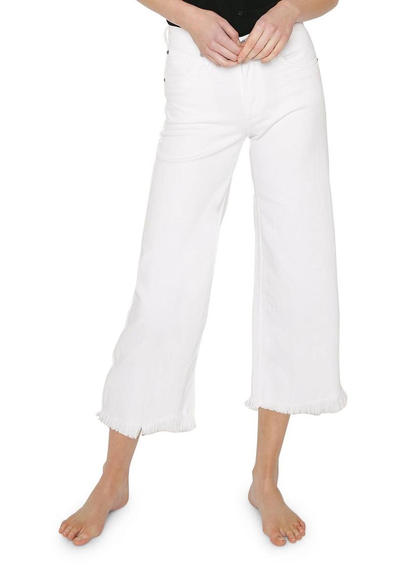 James Jeans Carlotta High-Rise Jeans w/ Frayed Hem