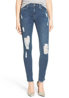 James Jeans Distressed Denim Leggings (Worn In)