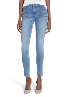 James Jeans Double Front Zip Denim Leggings (Splash)