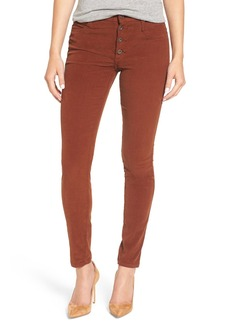 James Jeans 'High Class' Corduroy High Rise Skinny Pants (Camel)