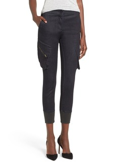 James Jeans High Rise Crop Cargo Jeans