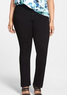 James Jeans 'Hunter Z' Stretch Straight Leg Jeans (Black Clean) (Plus Size)