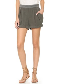 James Jeans Pull On Pleated Petal Shorts