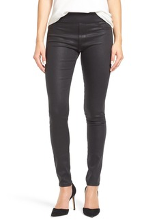 James Jeans 'Twiggy' Coated Denim Leggings (Charcoal Glossed)