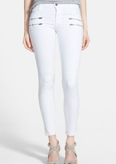 James Jeans 'Twiggy' Exposed Zip Skinny Jeans (White Clean)
