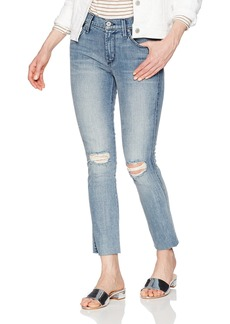 James Jeans Women's Ankle Length Cigarrette Jean with Raw Hem