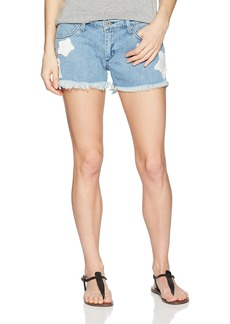 James Jeans Women's Babby Beau Patched Boyfriend Shorts in