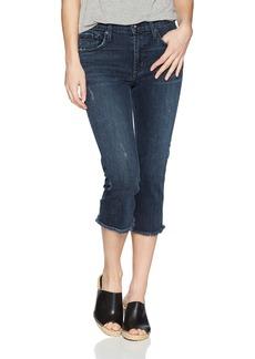 James Jeans Women's Bernie Straight Leg Elongated Bermuda Jean in