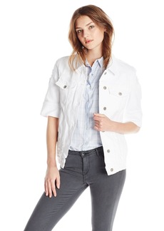 James Jeans Women's Big Jack Oversized Crop Sleeve Jacket