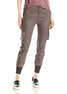 James Jeans Women's Boyfriend Cargo Slim Slouch with Banded Bottom