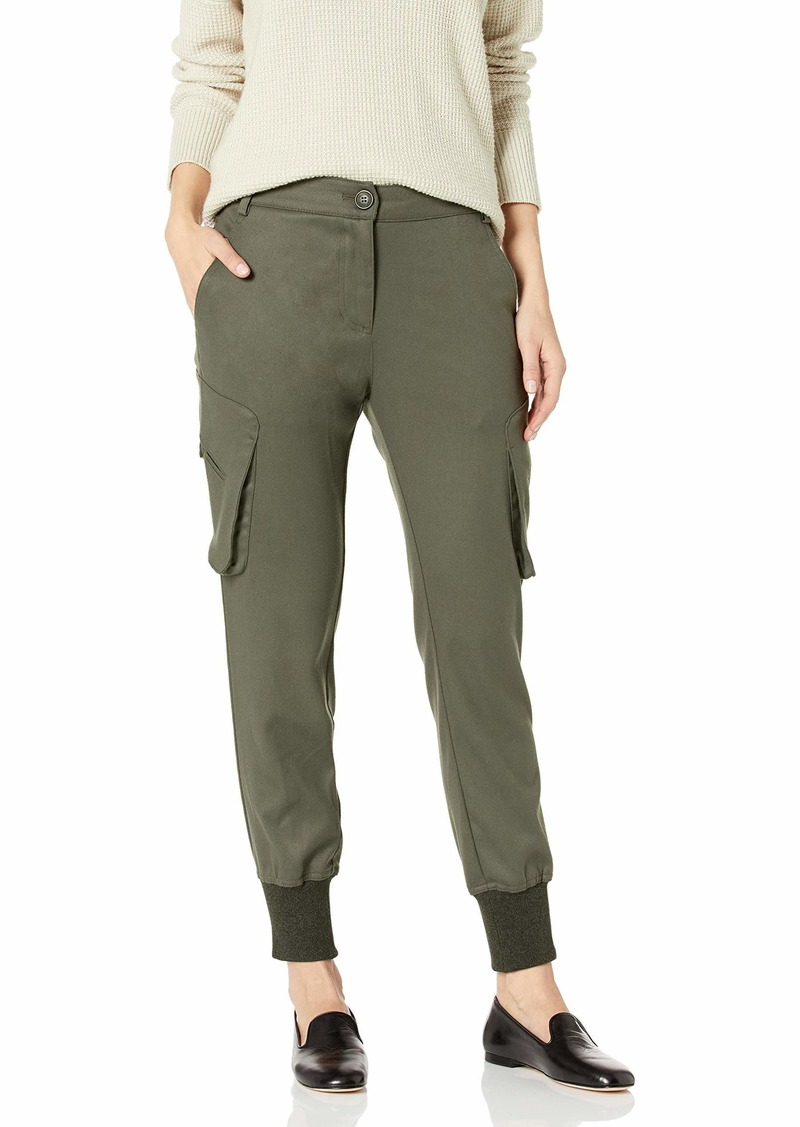 James Jeans Women's Boyfriend Cargo Slim Slouch with Banded Bottom in