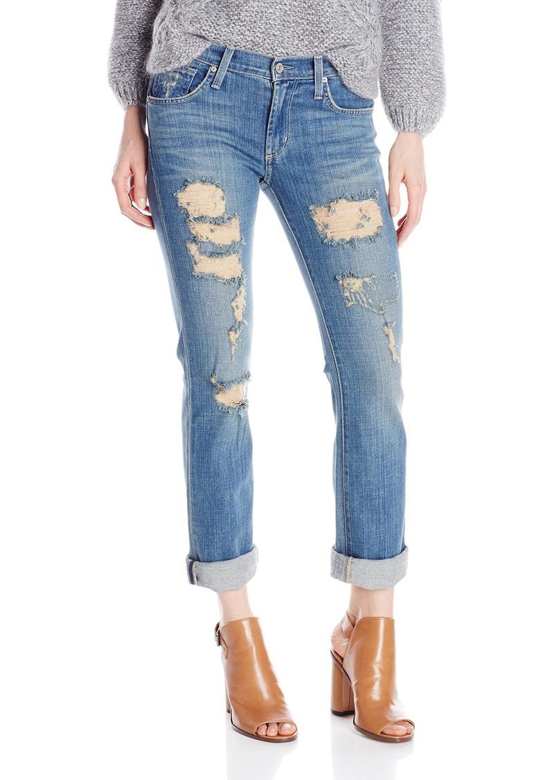 James Jeans Women's Buddy Slouchy Fit Straight Leg Boyfriend Jean