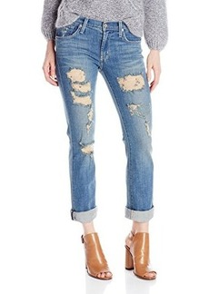 James Jeans Women's Buddy Slouchy Fit Straight Leg Boyfriend Jean