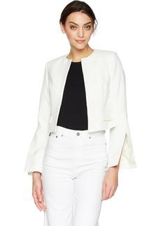 James Jeans Women's Cara Slit Sleeve Tailored Jacket  L