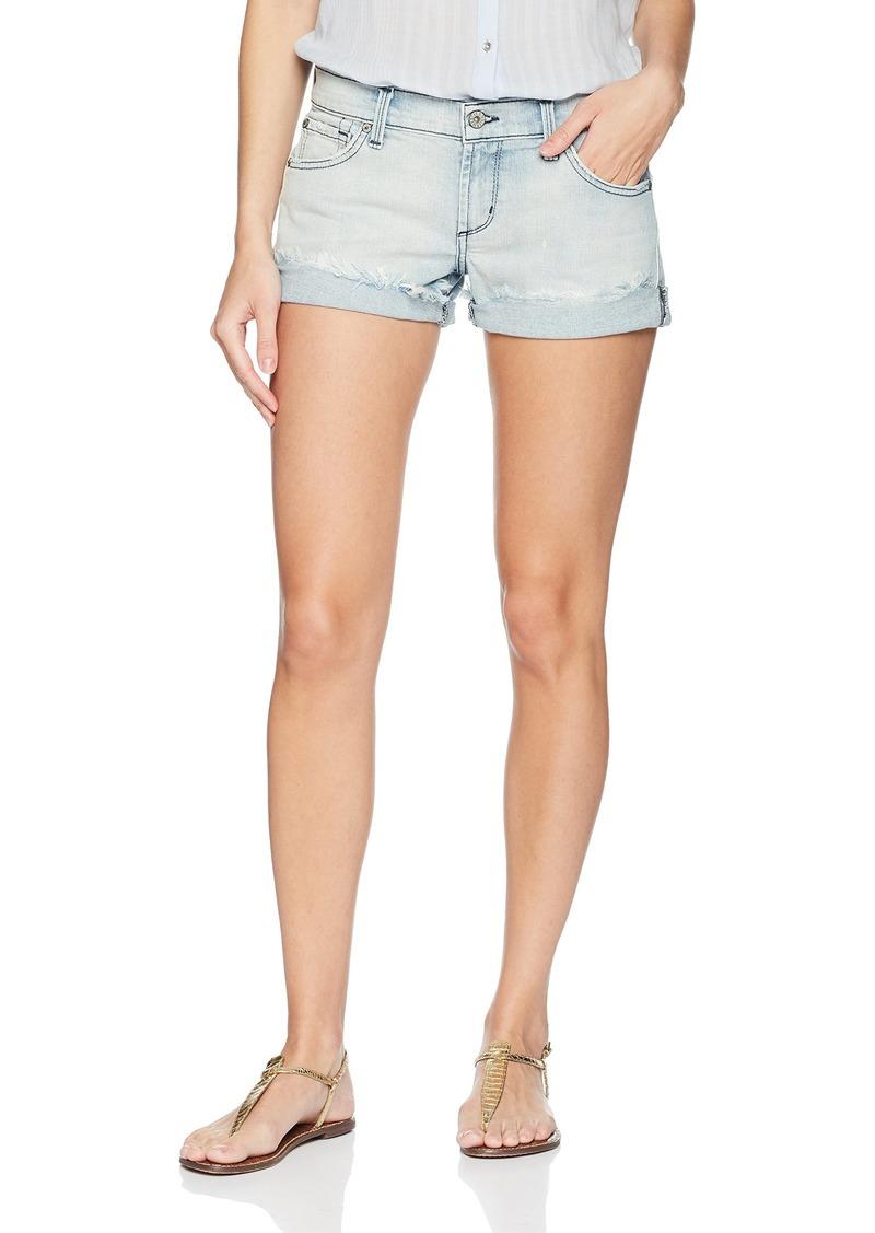 James Jeans Women's Charlie Rolled Hem Baggy Boyfriend Shorts in