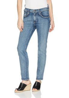 James Jeans Women's Chica Re-Constructed Hi-Lo Waist Slim Leg Jean