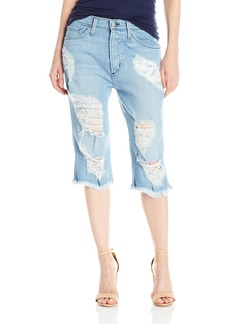 James Jeans Women's Chopper Distressed Boyfriend Knee Short in Joy Ride