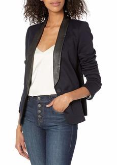 James Jeans Women's Combo Tuxedo Blazer
