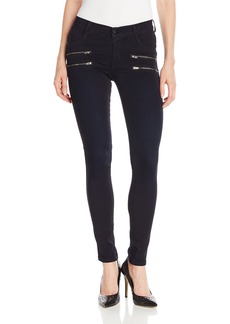 James Jeans Women's Crux Clean Double Front Zip Twiggy