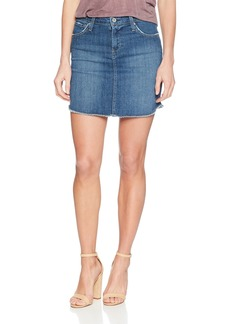 James Jeans Women's Daisy Mid Length Cut-Off Skirt in